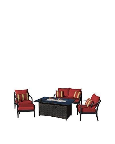 RST Brands Astoria 5-Piece Loveseat & Club Chair Fire Set  [Charcoal]