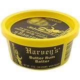 Harvey's Hot Butter Rum Batter 12 Oz Tub (2 Pack)