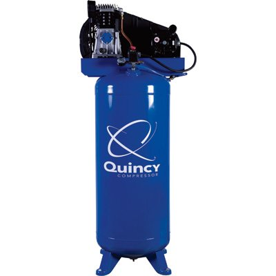 Lowest Prices! - Quincy Single-Stage Air Compressor - 3.5 HP, 220 Volt, 60-Gallon Vertical Tank, Mod...