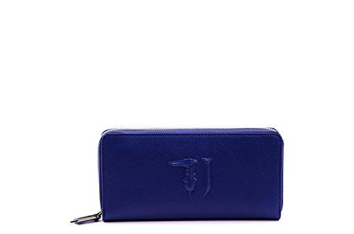 Trussardi Jeans Ischia Portamonete, 21 cm, Blu/Verde