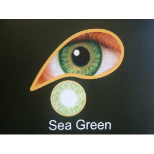 Coloured Contact Lenses with Free Solution and Case - Sea Green (1 Month)