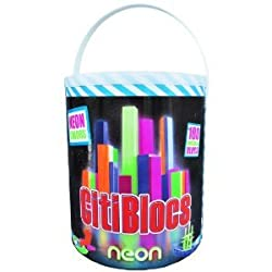 CitiBlocs CitiBlocs Neon Colors 100 Piece Precision Cut Wooden Building Blocks