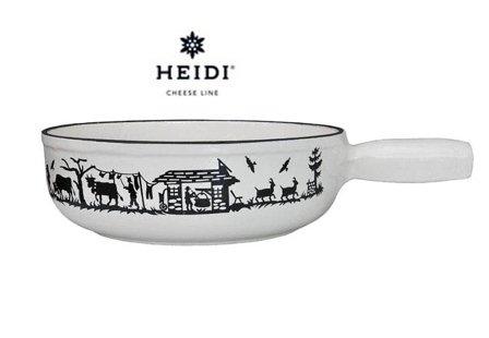 "«cheese hEIDI line caquelon alpes blanc ""induction service à fondue savoyarde fonte Þ 23 cm"