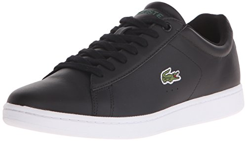Lacoste Men's Carnaby Evo Lcr Casual Shoe Fashion Sneaker, black, 9.5 M US