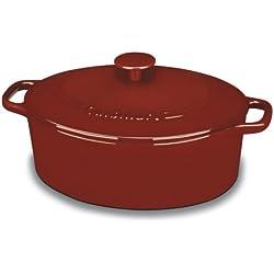 Cuisinart CI755-30CR Chefs Classic 5-1/2-Quart Oval Covered Casserole - Cardinal Red