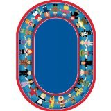 "Joy Carpets Kid Essentials Early Childhood Oval Children of Many Cultures Rug, Multicolored, 10'9"" x 13'2"""
