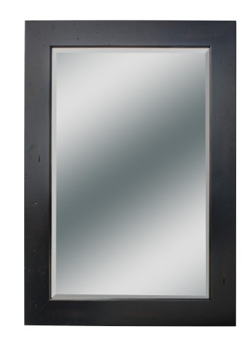 Kaco international 340-2224-B Dover Small Vanity Mirror in Distressed Black Sherwin Williams Finish