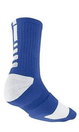 Nike Elite Men's Cushioned Crew Sock Dri-Fit Basketball Size XL Blue