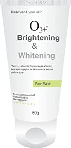 O3+ Brightening & Whitening Face Wash (50g)