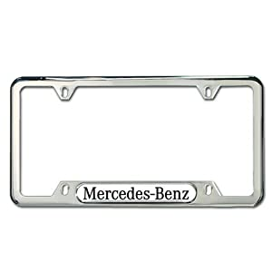 Genuine mercedes benz polished stainless steel for License plate frames mercedes benz