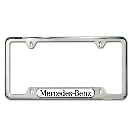Genuine mercedes benz polished stainless steel license for License plate frames mercedes benz