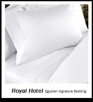 Royal Hotel's Solid White 800-Thread-Count 4pc King Bed Sheet Set 100-Percent Egyptian Cotton, Sateen Solid, Deep Pocket