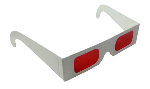 Decoder Glasses for Sweepstakes and Prize Giveaways-Red/Red-White Frame-Pack of 10, Model: 2102, Electronic Store