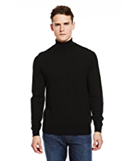 Autograph Pure Merino Wool Roll Neck Jumper