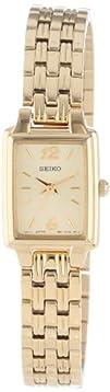 Seiko Womens SXGL62 Dress Gold-Tone Watch