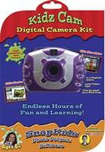 Kidz Digital Camera Kit - Purple - 1