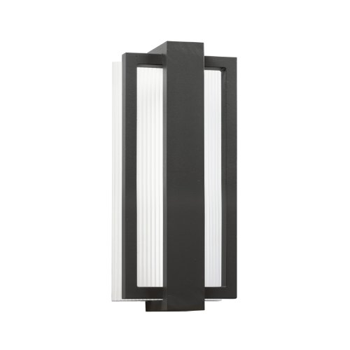 Kichler Lighting 49492Sbk Sedo 12In 16W 3000K Led Exterior Wall Mount, Satin Black Finish