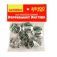 Sathers Real Chocolate Covered Peppermint Patties 1.5 Oz - 12 Ea/Case, 2 Cases