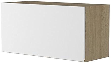 Giessegi 9368 Elemento Appeso Apertura Vasistas, Legno, Faggio / Bianco, 40 x 80 x 33.6 cm
