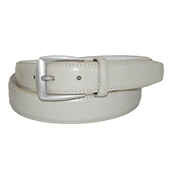 CTM® Mens Leather 1 1/4 inch Basic Dress Belt
