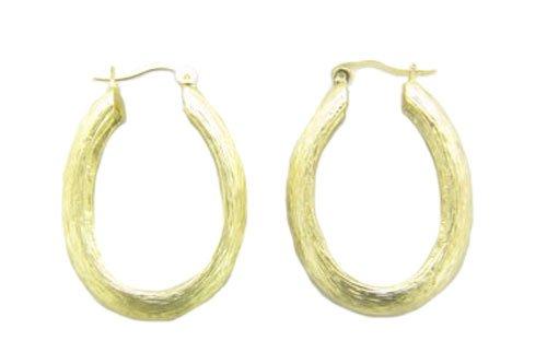 Designer Inspired Brushed Hoop Earrings