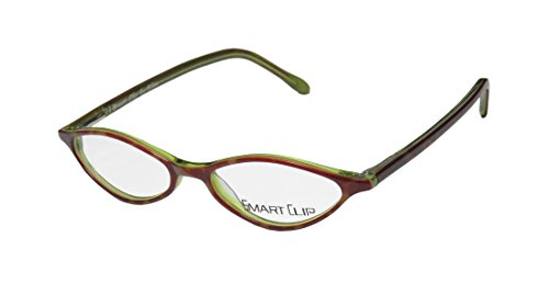 Smart Clip 918 Mens/Womens Rx Ready Latest Collection Designer Full-rim Spring Hinges Eyeglasses/Eye Glasses (48-16-140, Tortoise / Green) (Aj Tiffany compare prices)