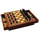 Deluxe Wooden Chess and Draughts Setby House of Marbles