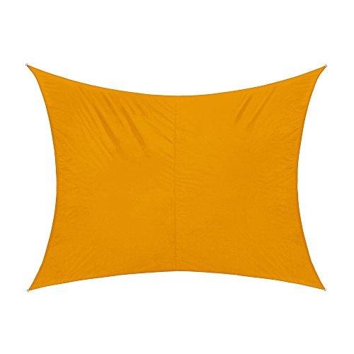Sonnensegel Rechteck wasserabweisend, 300 x 200 cm, gelb