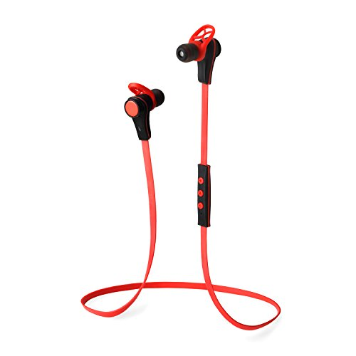 """Sneer® """"Isport"""" Series High-Grade Mini Wireless Stereo Sports/Running & Gym/Exercise Bluetooth Earbuds Headphones Headsets W/Microphone For Iphone 5S 5C 4S 4, Ipad 2 3 4 New Ipad,Ipad Air Ipod, Android, Samsung Galaxy S5,Galaxy 4,Galaxy 3,Sony L39H,L36H,"""