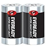 Eveready 1250SW-2 2 Pack D Cell Heavy Duty Batteries
