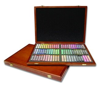 Martin Gallery Oil Pastel 72-Piece Color Set in Wooden Case