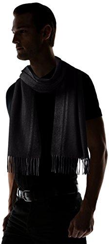 低调奢华有内涵,英国产黑标,HUGO BOSS Albarello Scarf 男款羊毛混羊绒 围巾图片