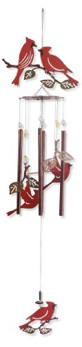 Sunset Vista Designs Garden Essentials Birds of a Feather Cardinals Wind Chime, 36-Inch Long