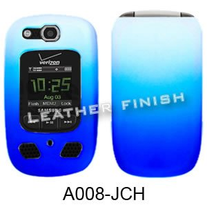 RUBBER COATED HARD CASE FOR SAMSUNG CONVOY 2 U660 RUBBERIZED TWO COLOR WHITE BLUE