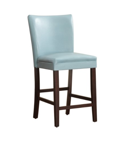 Homelegance 3276B-24 Parson Counter Height Dining Chair, Sky Blue, Set Of 2 front-705917