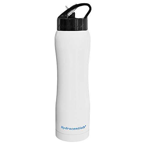 Hydracentials Stainless Steel Insulated Water Bottle With Straw 25oz Double Wall Wide Mouth Vacuum Insulation Design (Arctic White) (Soda Bottle Straw compare prices)