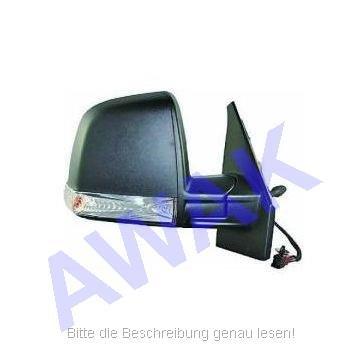 Fiat Doblo II 10- Aussenspiegel (rechts=Beifahrerseite) Seilkabel betätigt, Gehäuse-texturiert, mit Blinker, Glas-convex [C] [TX] [CV] [LMP] [R]