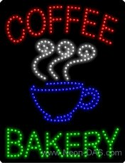 Coffee Bakery Outdoor LED Sign