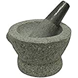Libertyware 8 Inch Stone Granite Mortar and Pestle 4 Cup Capacity