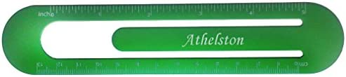 Bookmark  ruler with engraved name Athelston first namesurnamenickname
