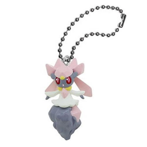 RARE!! pokemon XY 2014 strap mini figure Swing Key Chain Mascot Diancie Japan - 1