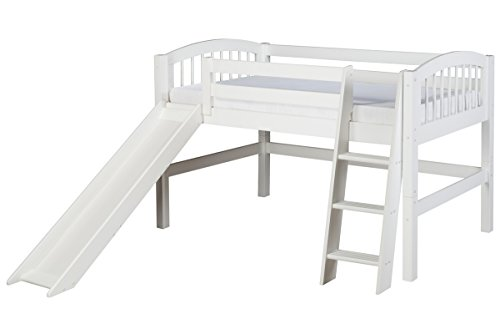 White Wooden Bunk Beds 176224 front