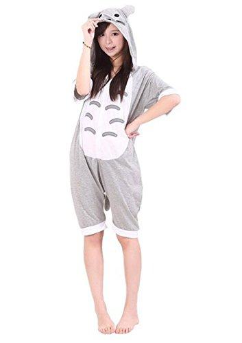 Dobelove Adult Cartoon Animal Pajamas Cosplay Costume Sleepwear (M, Totoro)