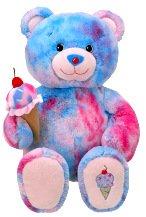 2010 Retired Build A Bear Workshop Bubblegum Baskin Robbins Unstuffed Teddy with Ice Cream Cone Accessory Plush Toy Animal (Blue Bubblegum Ice Cream compare prices)
