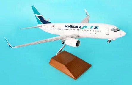 1: 100 スカイマークスSuprem Westjet ボーイング 737-700 with Landing Gear and Wood Display Stand (並行輸入)