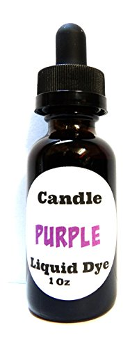 Liquid Candle Dye (Purple) - 1oz Amber Glass Dropper Bottle with Childproof Lid Premium Dye for All Waxes Exp Soy Wax (Candle Dye Purple compare prices)