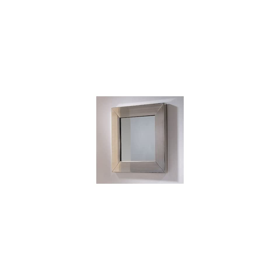 Square Mirror W/ Stainless Steel Frame WHE51B Polished Stainless Steel
