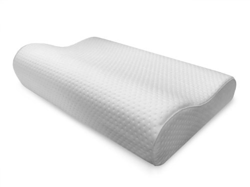 Sensorpedic Luxury Extraordinaire Contour Memory Foam Neck Pillow With Ventilated Icool Technology, Jumbo Size, White front-144457