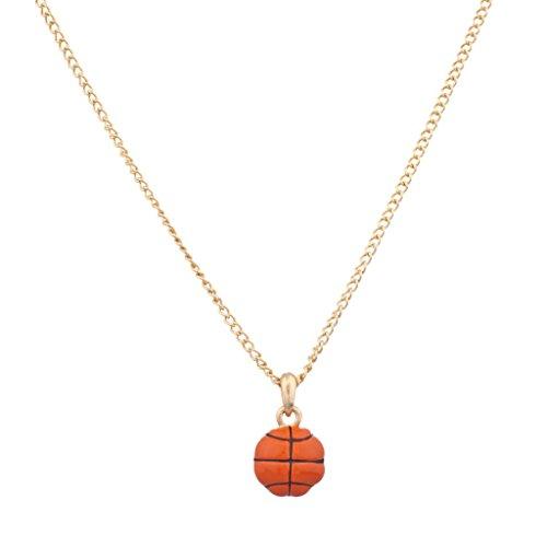 Lux accessori basket sport palla arancione ciondolo collana