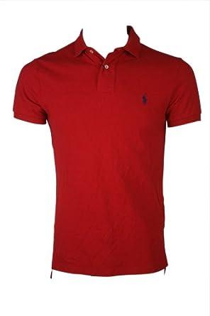 Polo Ralph Lauren Custom Fit Mens Mesh Shirt Red Pony Large